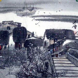 Chinese Snow Painting,50cm x 50cm,1168003-x