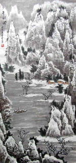 Chinese Snow Painting,48cm x 96cm,1169004-x