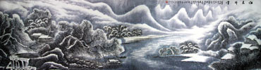 Chinese Snow Painting,96cm x 360cm,1169005-x