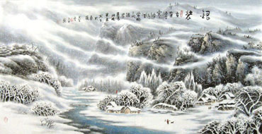 Chinese Snow Painting,66cm x 136cm,1443001-x