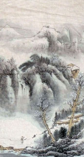 Chinese Snow Painting,44cm x 79cm,1452024-x