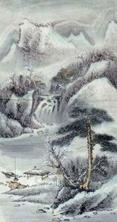 Chinese Snow Painting,44cm x 79cm,1452025-x