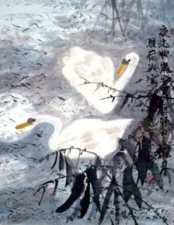 Chinese Swan Painting,65cm x 55cm,2367032-x