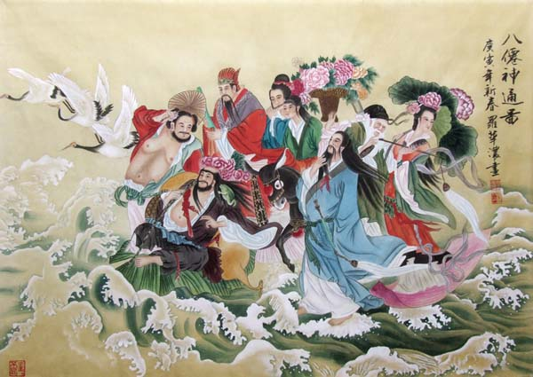 the Eight Immortals,70cm x 100cm(27〃 x 39〃),3537016-z