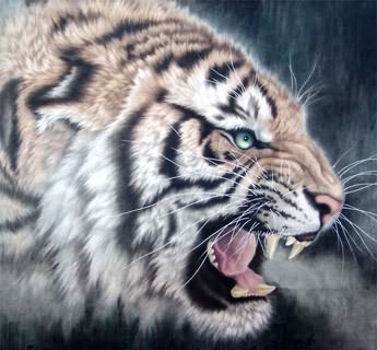 Chinese Tiger Painting,98cm x 98cm,4445012-x