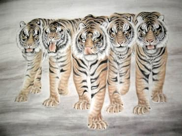 Chinese Tiger Painting,180cm x 240cm,4521001-x