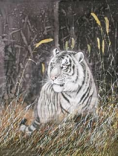 Chinese Tiger Painting,50cm x 70cm,4521004-x