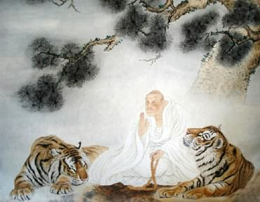 Chinese Tiger Painting,120cm x 120cm,4521014-x