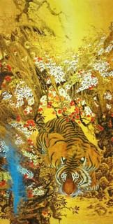 Chinese Tiger Painting,65cm x 134cm,4682010-x