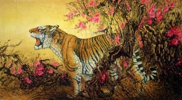 Chinese Tiger Painting,92cm x 174cm,4682011-x