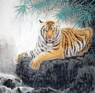 Chinese Tiger Painting,66cm x 66cm,4687005-x