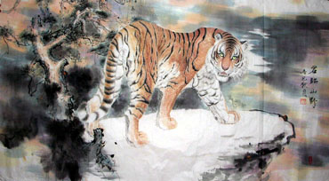 Chinese Tiger Painting,97cm x 180cm,4695007-x