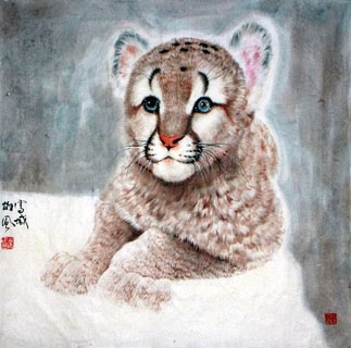 Chinese Tiger Painting,66cm x 66cm,4695008-x
