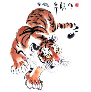 Chinese Tiger Painting,66cm x 66cm,4695038-x