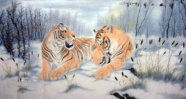 Chinese Tiger Painting,97cm x 180cm,4697007-x