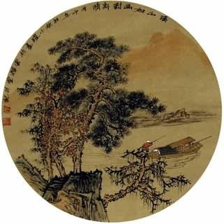 Chinese Trees Painting,30cm x 30cm,1002024-x