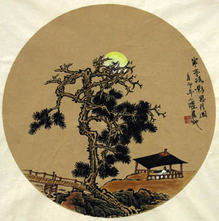 Chinese Trees Painting,30cm x 30cm,1002025-x