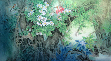 Chinese Trees Painting,90cm x 180cm,1011002-x