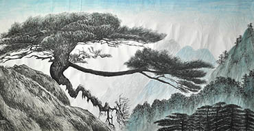 Chinese Trees Painting,90cm x 180cm,1011026-x