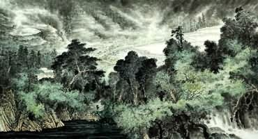 Chinese Trees Painting,97cm x 180cm,1013024-x