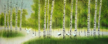 Chinese Trees Painting,70cm x 170cm,1035009-x