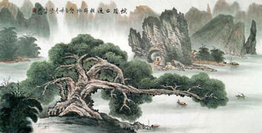 Chinese Trees Painting,66cm x 136cm,1049004-x