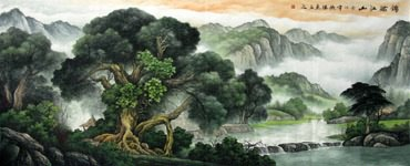 Chinese Trees Painting,96cm x 240cm,1135022-x