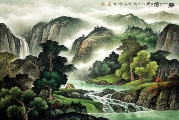 Chinese Trees Painting,81cm x 120cm,1135053-x