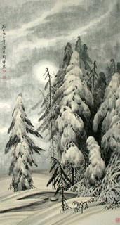 Chinese Trees Painting,66cm x 136cm,1167006-x