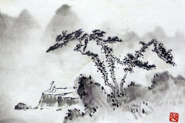 Chinese Trees Painting,28cm x 35cm,1175025-x