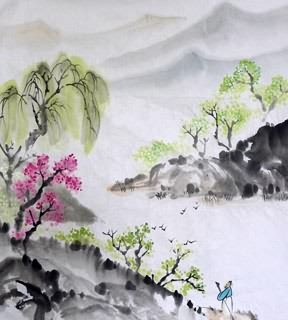 Chinese Trees Painting,46cm x 70cm,1175038-x