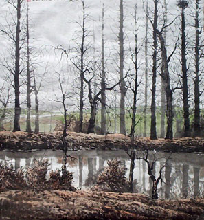 Chinese Trees Painting,97cm x 90cm,1178046-x
