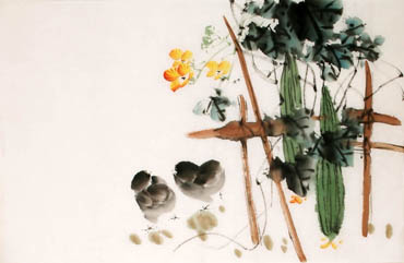 Chinese Vegetables Painting,69cm x 46cm,2340123-x