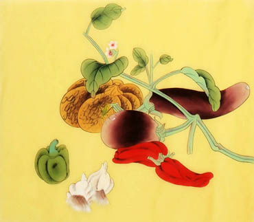 Chinese Vegetables Painting,40cm x 50cm,2340124-x