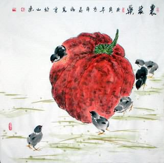 Chinese Vegetables Painting,69cm x 69cm,2360096-x