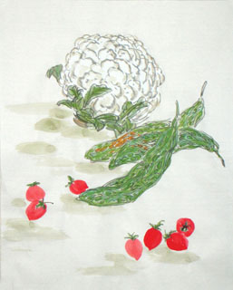 Chinese Vegetables Painting,40cm x 50cm,2360098-x