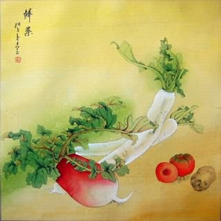 Chinese Vegetables Painting,69cm x 69cm,2385011-x
