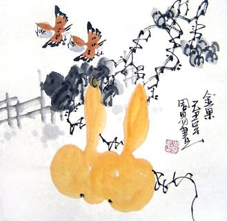 Chinese Vegetables Painting,33cm x 33cm,2396033-x