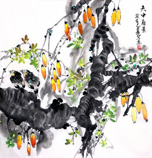 Chinese Vegetables Painting,69cm x 69cm,2408002-x
