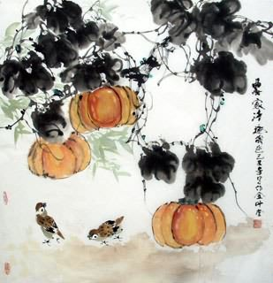 Chinese Vegetables Painting,69cm x 69cm,2408004-x
