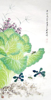 Chinese Vegetables Painting,50cm x 100cm,2410004-x