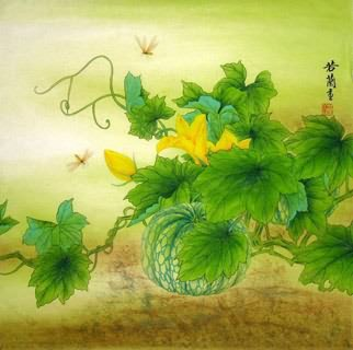 Chinese Vegetables Painting,66cm x 66cm,2419004-x