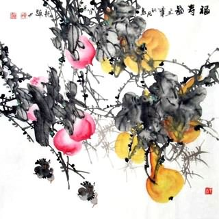 Chinese Vegetables Painting,69cm x 69cm,2422009-x