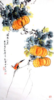 Chinese Vegetables Painting,50cm x 100cm,2437014-x