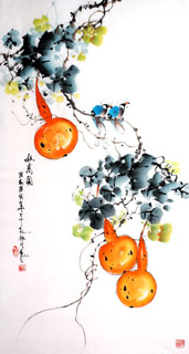 Chinese Vegetables Painting,50cm x 100cm,2437015-x