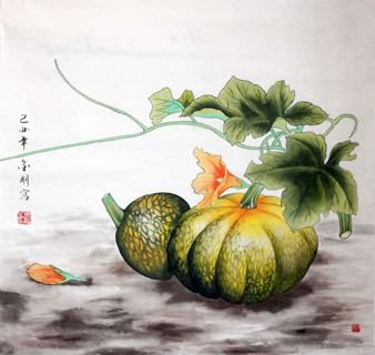 Chinese Vegetables Painting,66cm x 66cm,2494001-x