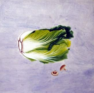 Chinese Vegetables Painting,66cm x 66cm,2603015-x