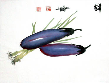 Chinese Vegetables Painting,34cm x 46cm,2604005-x