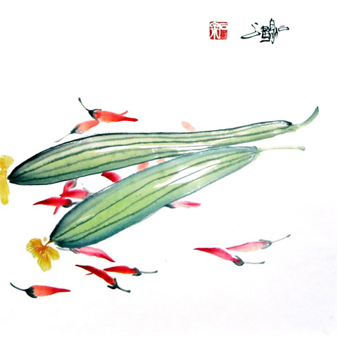 Vegetables,33cm x 33cm(13〃 x 13〃),2604006-z