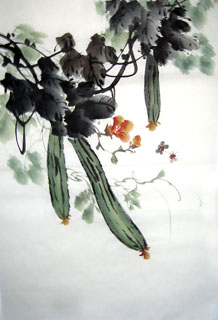 Chinese Vegetables Painting,69cm x 46cm,2614057-x